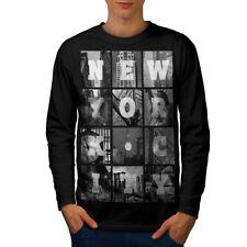 Ciudad de Nueva York Foto Hombre Manga Larga T-shirt new | wellcoda