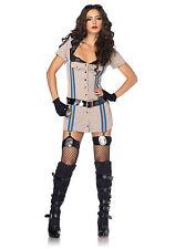 Sexy Halloween Adult Women's Highway Patrol Honey Police Officer Costume
