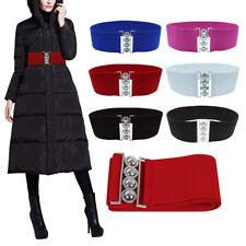 Fashion Ladies Elastic Buckle Waist Elasticated Wide Belt Fastening Slim Thin