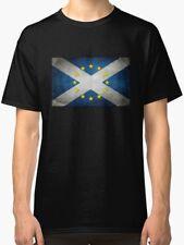 Scotland Flag with EU Stars T-Shirt (Unisex/Men)/Pro European Union/Anti-Brexit