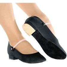 "So Danca RO-01 Girls Canvas Character Shoe w/ Suede Sole, .75"" Heel, Black, NIB"