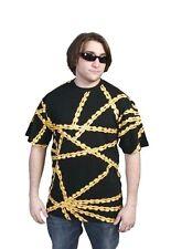 Official Mens Black Gold Biking Chain Gang T-Shirt BMX Bicycle Cyclist NWT