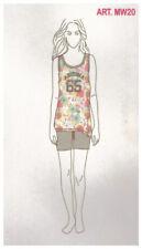 Pigiama Donna IRGE Canotta Short Pantaloncino Cotone 100% ARIZONA 65 Color