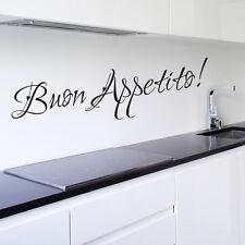 Buon Appetito Autocollant Mural Cuisine Vinyle Art Décalque Restaurant Citation