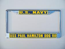 Uss Paul Hamilton Ddg 60 License Plate Frame U S Navy Usn Military