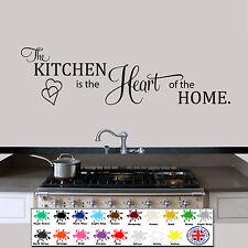 Pegatinas De Pared Cotización de la cocina es el corazón de la casa, Wallart, Calcomanía
