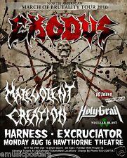 Exodus 2010 Portland Concert Tour Poster -Metal