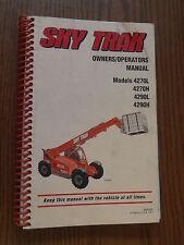 SKY TRAK 4270L 4270H 4290L 4290H TELEHANDLER FORKLIFT OWNERS OPERATORS MANUAL