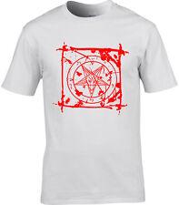 Baphomet Splatter T-Shirt - Satan Devil Anti Christ Witch Gothic Atheist Blood