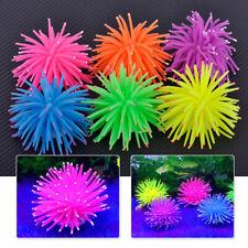 Silicone Aquarium Fish Tank Decor Artificial Coral GlowFish Underwater Ornament
