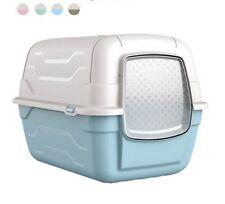 Lettiera chiusa per gatti toilette igenica coperta con filtro e paletta