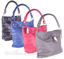 New Ladies PVC Tote Bag Blue Large Womens Handbag JBHB2355
