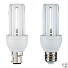 BRANDED Energy Saving CFL 3U 11W Light Bulbs BC Bayonet B22 or ES E27 Cap PACK