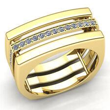 1carat Round Cut Diamond Mens Modern Anniversary Engagement Ring 10K Gold