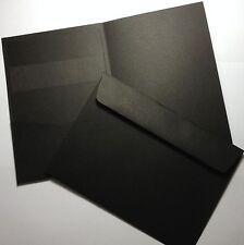 Pocket Invitation Cards RAVEN BLACK (20) 120x170mm - Insert Cards - Envelopes