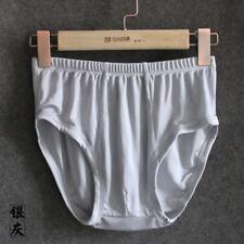 Men 100% Silk Knitted Briefs Underwear Lingerie  Knickers Breathable Fashion New
