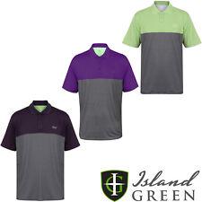 Verde Isola da Uomo Golf Polo Camicie Bicolore Manica Corta a Righe IGTS1647