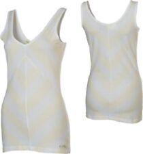 Womens Oakley Across V-Neck Tank Top Shirt Stretch Spandex White Size XS M