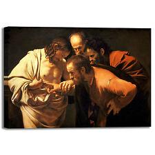 Caravaggio incredulità san Tommaso quadro stampa tela dipinto telaio arredo casa