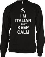 I'm Italian I Can't Keep Calm Meme Italy Pride Stress Italia Funny Men's Thermal