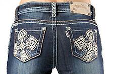 """Rose Royce Premium Boot Cut Low Rise Jeans """"Sarah Twilight"""" Cotton Blend - CL370"""