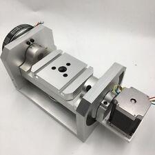 4th 5th CNC Dividing Head Rotary Axis 6:1 8:1 Nema23 Stepper Motor Rotation Axis
