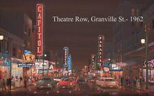Theatre Row 1962 Granville St Giclee Canvas Brian Croft