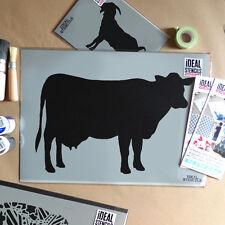 Vache Animaux De Ferme Pochoir Décore Peinture Murs Tissu Meubles Artisanat Art