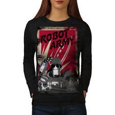 Army Funny Robot Geek Women Long Sleeve T-shirt NEW | Wellcoda