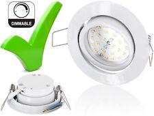 LED Spot Einbaustrahler 5W 230V - DIMMBAR - schwenkbar Einbauleuchte Edelstahl