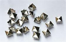 150pz 1,2cm borchie sfuse a piramide ARGENTO *150pcs pyramid STUDS SILVER colors