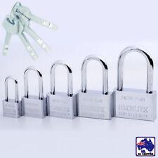 Security Lock Shackle Padlock Door Stainless Steel Rectangle w/ 4 Keys HLO0007