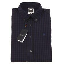 2454P camicia quadretti blu-nero G-STAR RAW uomo shirt men