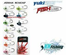 FISHUS YUKI ''ATAMA'' Jigheads 1.7gr Fishing Lrf Spinning Silicone Lures 10pcs