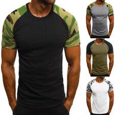 Mode hommes Casual Slim camouflage imprimé à manches courtes Tee- Shirt de mode