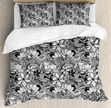 Feminine Flowers Duvet Cover Set Twin Queen King Sizes with Pillow Shams