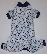 Blue Pebbles Flannel Pajamas PJ's Dog Puppy Pet Clothes XXXS - Large