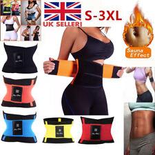 Waist Trainer Cincher Trimmer Sweat Belt Men Women Shapewears Gym Body Shaper UK