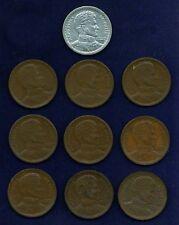 CHILE 1 PESO COINS: 1942,1943,1944,1945,1949,1950,1951