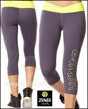 ZUMBA CAPRI LEGGINGS PANTS Yoga-Dance Fitness-Work Out-Cycling ~Ultra-flattering