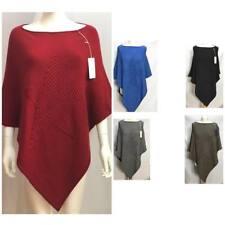 New Ladies Italian Star Poncho Cape Knitted Winter women Poncho Shawl Plus Sizes
