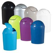 Tapa De Plástico Columpio de 5 litros de residuos Cubo de basura Basura Papelera de reciclaje Baño Inodoro