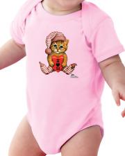 Infant Creeper Bodysuit One Piece T-shirt I Love You cat kitten k-66