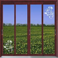 FLORAL DESIGN VINYL ETCH PATIO/ DOOR/ WINDOW/ MIRROR FROSTED GLASS ART STICKERS