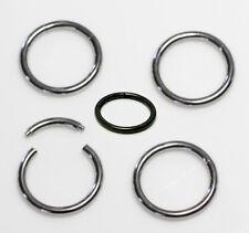 2er Set Nasenpiercing Segment Ring Smooth Brust Lippe Nase Augenbrauen Piercing