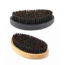 VS2# Oval Portable Boar Bristle Beard Brush Men Facial Cleaning Mustache Care