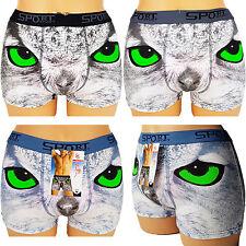 Boxershorts Baumwolle Herren Retro Shorts Unterhosen  Print  New