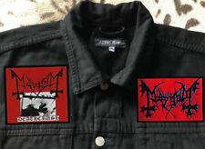 True Mayhem Deathcrush Black Metal Denim Cut-Off Battle Jacket Waistcoat S-4XL