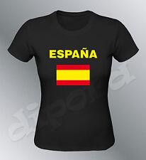 Tee shirt ESPAGNE supporter femme euro football foot drapeau Espana bandera