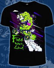 Acid Brain Men's Tshirt Glow UV-Blacklight Rave Festival Psychedelic Goa Trippy